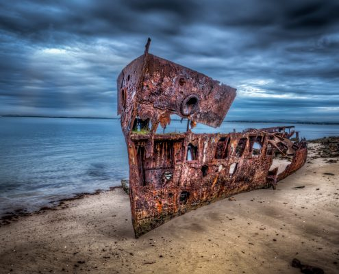 Wrecked Ship Lanscape by Glass Protection Guy